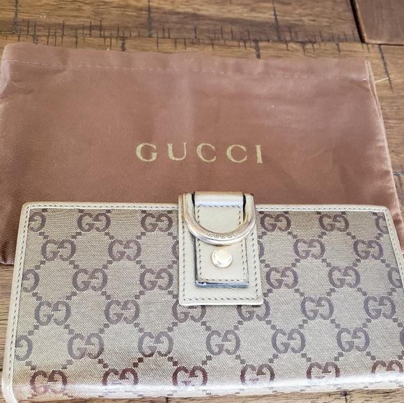 202ac5ccf04b Gucci Bags   Gg Crystal Monogram Wallet Gold D Ring   Poshmark